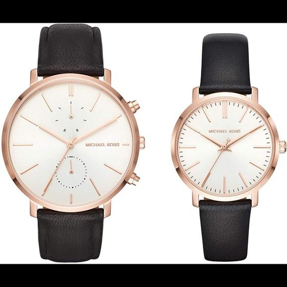 New Michael Kors Jaryn Two Watch RoseGold Gift Set